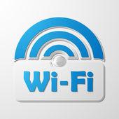 保税区 wifi,贴纸 — 图库矢量图片