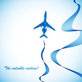Airplane, vector abstract background — Vettoriale Stock