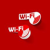 Free Zone wi-fi, sticker — Stock Vector
