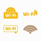Frizon wi-fi, klistermärke — Stockvektor