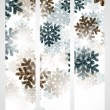 New Year banner with snowflakes — Imagen vectorial