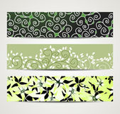 Banner with floral pattern — Stock Vector