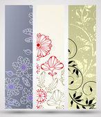 Banner med blommönster — Stockvektor