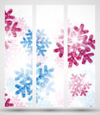 New Year banner with snowflakes — Vettoriale Stock