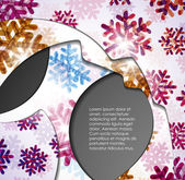 Layered abstract background with snowflakes image — Stock Vector