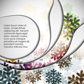 Layered abstract background with snowflakes image — Stockvektor
