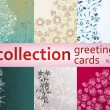 Collection greeting cards — Stock Vector