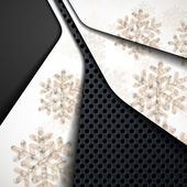 Layered background with snowflakes — Stock Vector