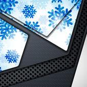 Vrstvy pozadí abstraktní s obrázkem sněhové vločky — Stock vektor