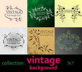 Collection vintage background — Stockvektor