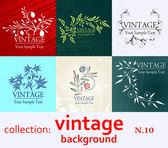 Sfondo vintage collezione — Vettoriale Stock