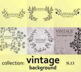 Kolekce vintage pozadí — Stock vektor