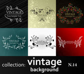 Collection vintage background — Stock Vector