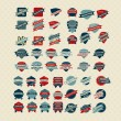 Vintage Retro Icons And Labels — Stock Photo