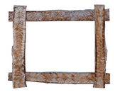 Wood frame on white background. — Stok fotoğraf