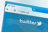 Twitter start page the popular social media — Stock Photo