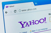 Yahoo Internet portal and e-mail service start page — Stock Photo