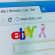 EBay company providing services in the areas of online auctions - Stock Photo