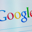 Google on the computer screen close-up — Stock Photo