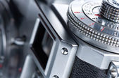 Viewfinder of the old camera. — Stock Photo