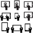 Icon set tablets and gadgets with touch screen - Stockvectorbeeld