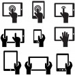 Icon set tablets and gadgets with touch screen - Stock Vector