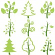Stock Vector: Set icons trees.