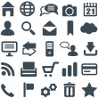 Universal set of icons for web and mobile. — Imagens vectoriais em stock