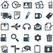 Universal set of icons for mobile applications and web sites. - Векторная иллюстрация