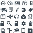 Universal set of icons for mobile applications and web sites. — Imagens vectoriais em stock