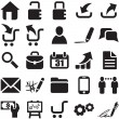 Vector black web icons — Vector de stock #19438461