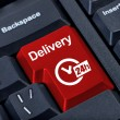 Royalty-Free Stock Photo: Delivery button with clock 24h.