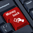 Money back button. — Stock Photo