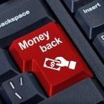 Money back button. — Stock Photo
