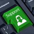 Support button with girl manager. — Stock Photo #19960729