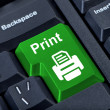 Print button with printer. — Stock Photo
