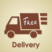 Truck free delivery. — Stock Vector