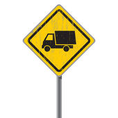 Old road sign with a truck. — Wektor stockowy