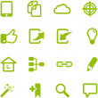 Set of bright green vector icons. — Stock Vector #28783925