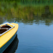 Empty kayak without tourist on river. — Stock Photo #31726823