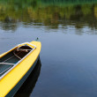 Kayak on river. — Stock Photo