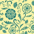 Vector floral ornate seamless pattern. — Stockvector