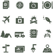 Vector icons for travel and tourism. — Stock Vector