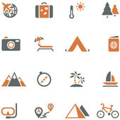 Travel and tourism icon set vector for design. — Stock Vector