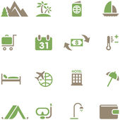 Set icons for travel and tourism. — Stock Vector