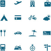 Travel, leisure and tourism icon set vector. — Stock Vector
