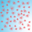 Abstract red hearts.Vector illustration — Stock Vector #4658300