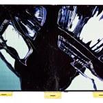 Split broken LCD screen (display), isolated on white — Stock Photo #12455774