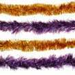 Christmas artificial tinsel decoration — Stok Fotoğraf #12861619