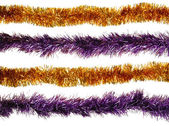 Christmas artificial tinsel decoration — Zdjęcie stockowe